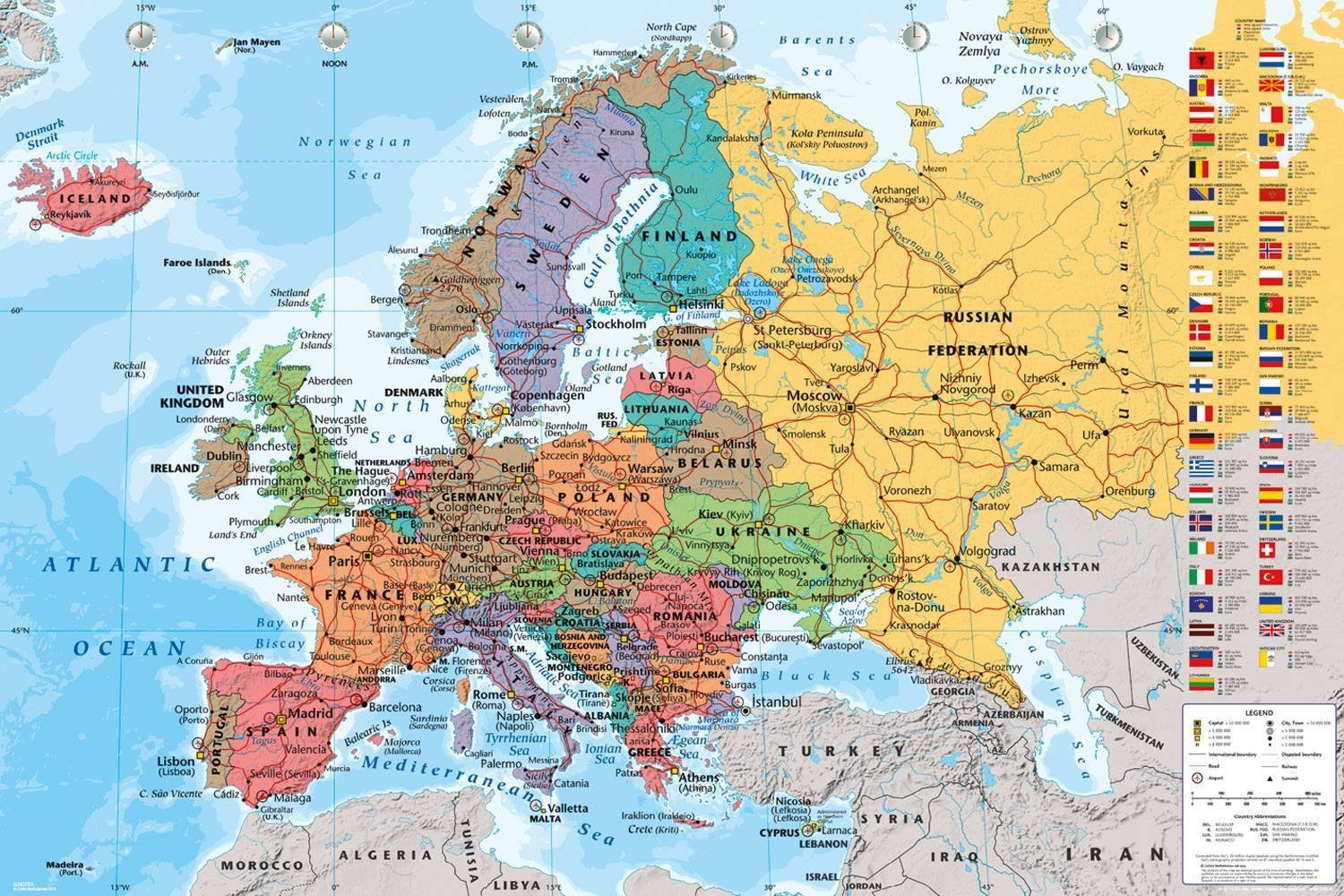 European Map 61 91 5cm Film Freak Productions