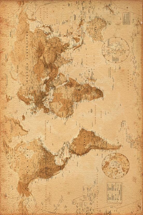 Worldmap Vintage